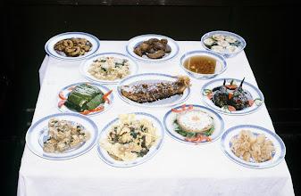 Photo: 11067 鎮江/浮王斎/料理/素菜(ス-ツァイ)/糖醋桂魚、糖醋鱔魚、華厳月色、など