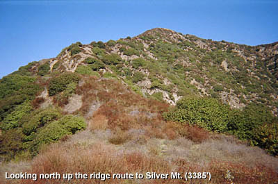 Photo: View north up the ridge route to Silver Mountain