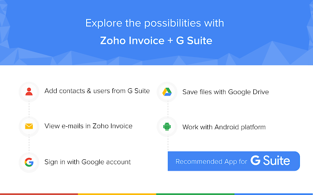Zoho Invoice G Suite Marketplace - Best free invoice app for android for service business