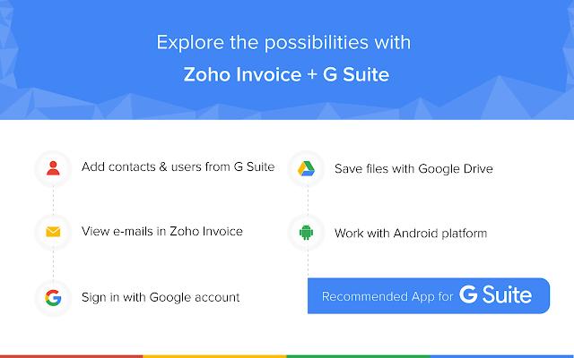 zoho invoice g suite marketplace