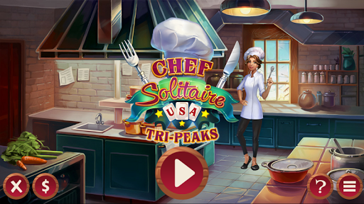 Chef Solitaire: USA TriPeaks screenshot