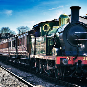 All aboard... by Peter Greenhalgh - Transportation Trains ( uk, steam train, train, bluebell railway, sheffield park )