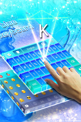 Blue Keyboard For Android - screenshot