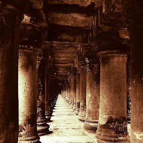 At Angkor Wat Cambodia by Liaunya Haji Awengz - Buildings & Architecture Architectural Detail