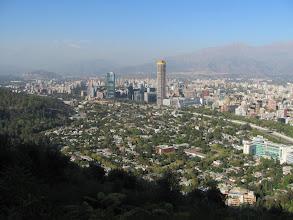 Photo: Blick über Santiago von St. Cristobal