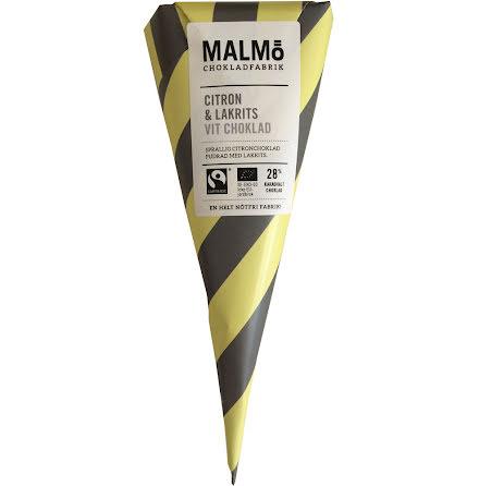 Citron & lakrits med vit choklad 28 % - Malmö Chokladfabrik