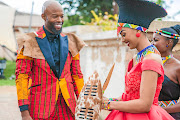 A match made in heaven for Uhuru (Thapelo Mokoena) and Thandi (Reyneke)   as they tie the knot on Broken Vows.