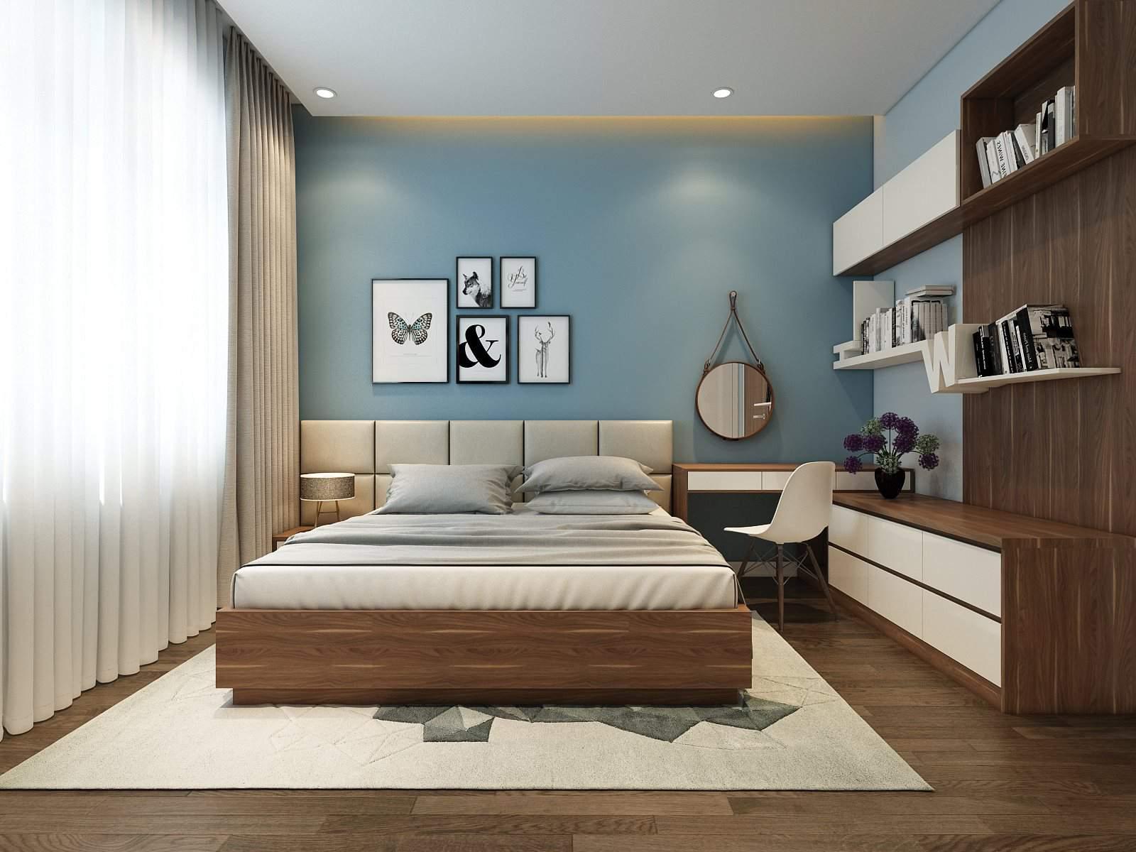 Thiết kế nội thất phòng ngủ đẹp hiện đại cho người mệnh Thủy