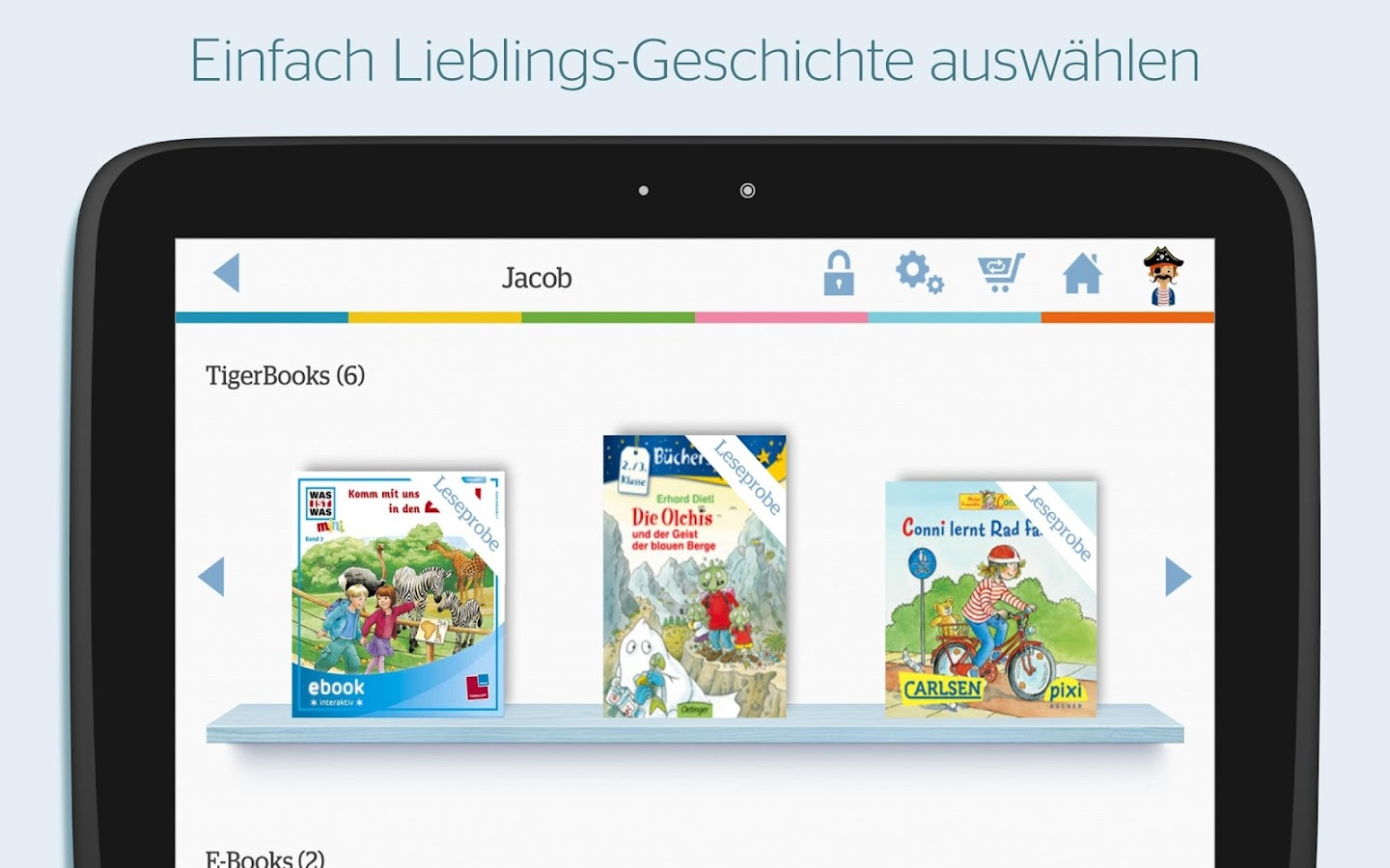 TigerBooks Kinderbücher – Screenshot