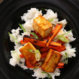 Basic Asian Broiled Tofu.