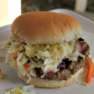 MIRACLE WHIP Slaw Burgers.