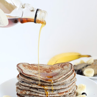 Healthy Blueberry Banana Buckwheat Pancakes Recipe
