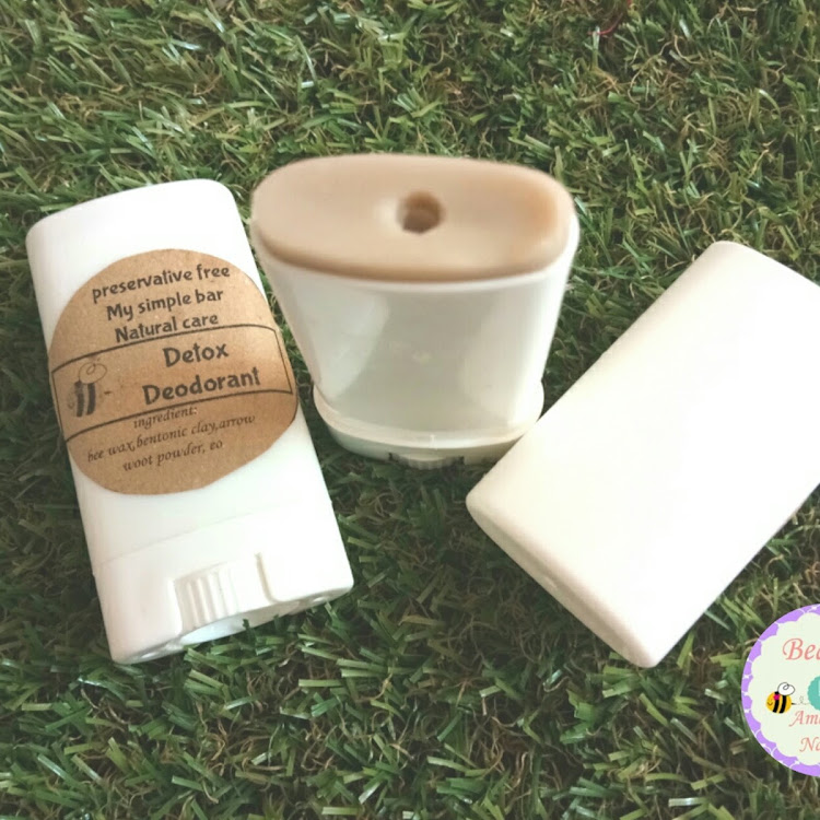 Homemade deodorant detox ameryllis by ameryllis nature soap