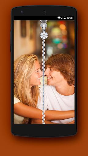 Couple Pics Zipper Lock Screen