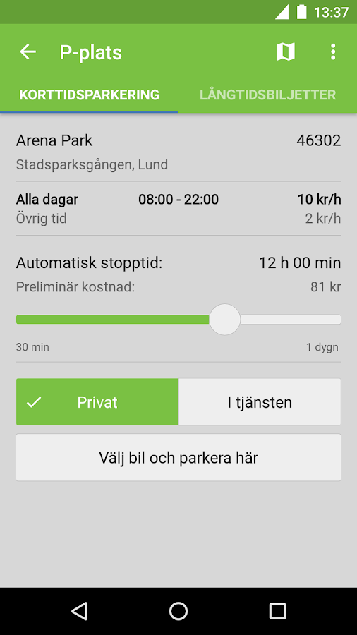 Parkster- screenshot