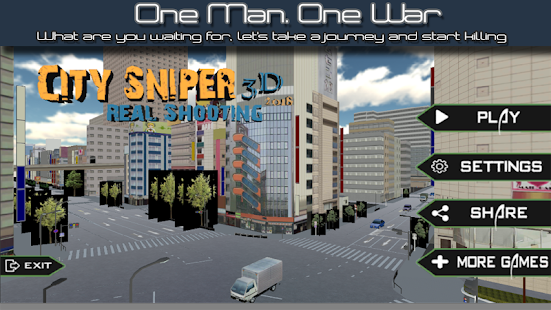 City Sniper Real Shooting 3D 2018 - náhled