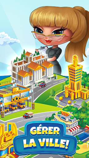 Pocket Tower: Tour Construction & Megapolis Ville fond d'écran 2