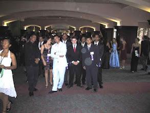 Photo: Waiting to enter the ballroom