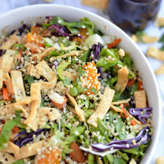 Asian Quinoa Salad with sesame Ginger-Garlic Dressing.