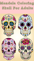 🌈 Skull Mandala  For Aduls 🌈 - screenshot thumbnail 04