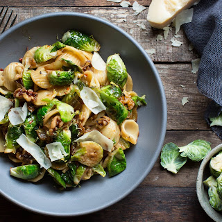 Orecchiette With Brussels Sprouts And Caramelized Onion