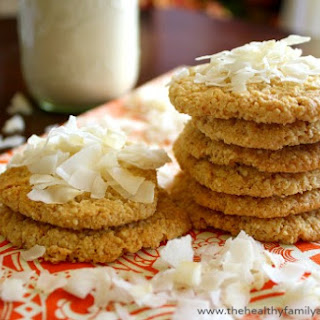 Coconut Cashew Cookies (Vegan, Gluten-Free, Grain-Free, Dairy-Free, Paleo-Friendly, No Refined Sugar).