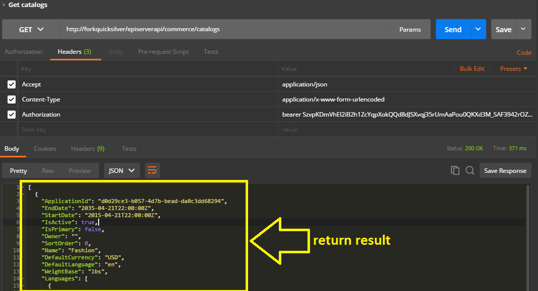 Return result after adding ReadAccess permission