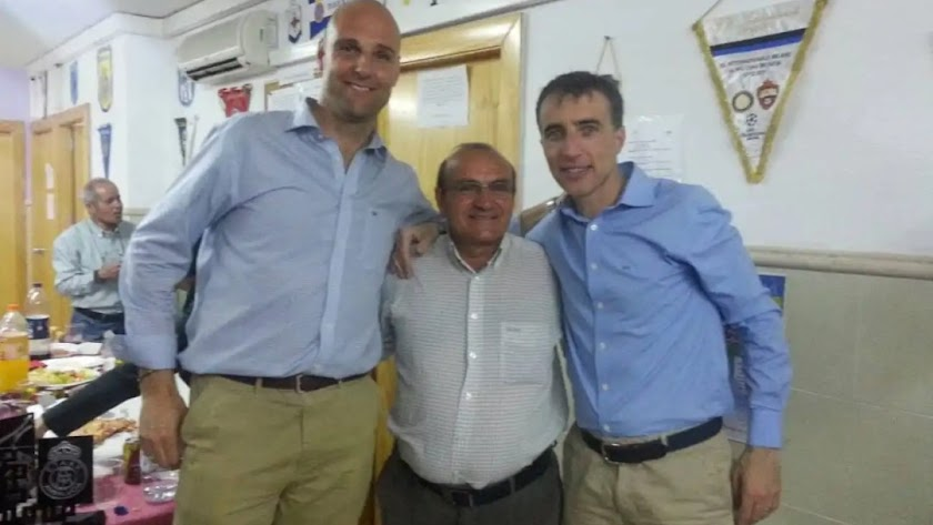 Tres grandes del arbitraje: Montoya Samper, Rafael Martínez y Borbalán.