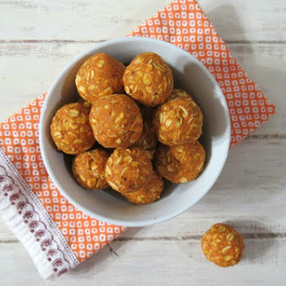 Peanut Butter and Pumpkin Dog Balls.