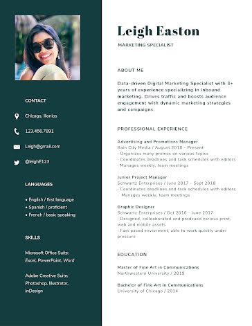 Leigh L. Easton - Resume Template