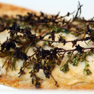 Roasted Trout with Smoked Salt and Fresh Woody Herbs.