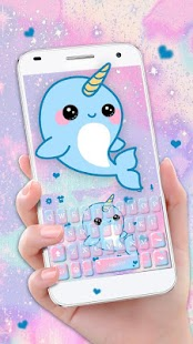 Lovely Unicorn Whales Keyboard Theme - náhled