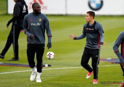"""Martinez en Hazard zijn het niet helemaal eens over de recordjacht op dinsdagavond: """"Zou niet goed zijn"""""""