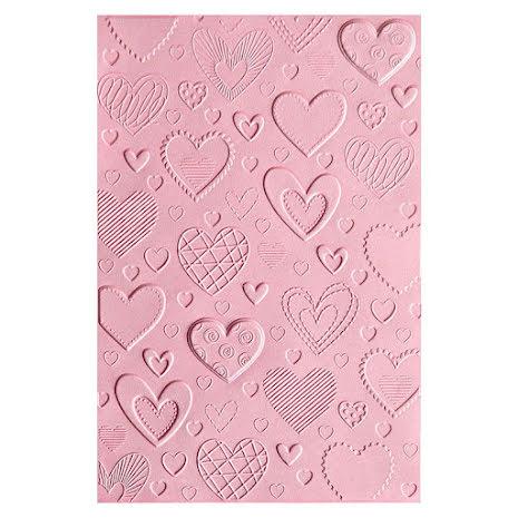 Sizzix 3-D Textured Impressions Embossing Folder - Hearts