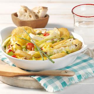 Weißkohl-Curry-Gratin