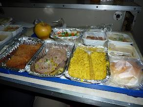 Photo: Fahrt Kairo - Assuan im Nachtzug, Abendessen
