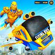 Flying Bus Robot Transform War: Robot Hero Game