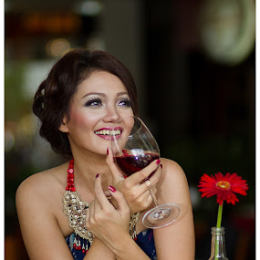Wine and dine by Lefri Kristianto - People Portraits of Women ( sutos, woman, indonesia )