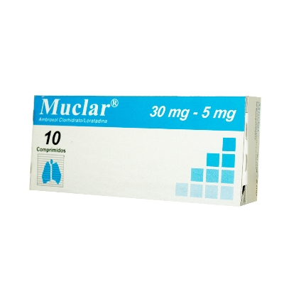 ambroxol + loratadina muclar 30/5mg x 10 comprimidos Dollder