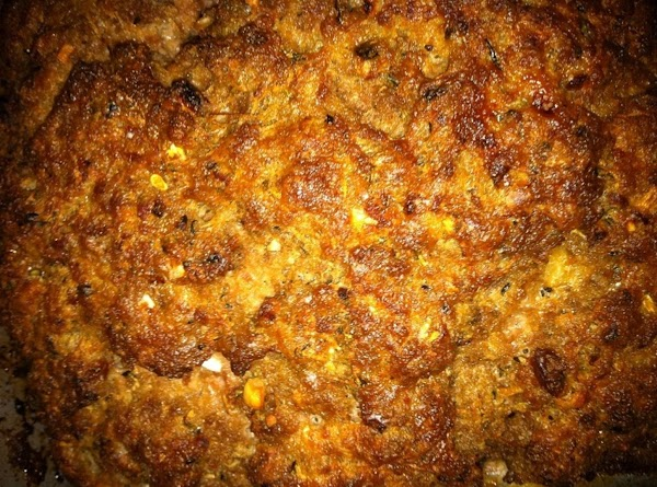 The Meatloaf without sauce or soup on top.