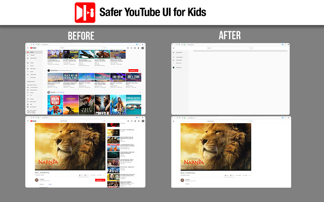 Safer YouTube UI for Kids