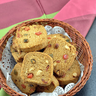 Whole Wheat Tutti Frutti Cookies Recipe