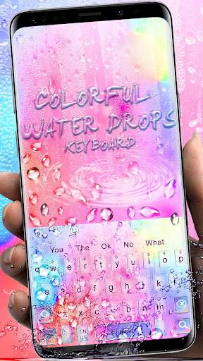 Colorful Water Drop Keyboard Theme ss1