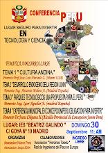 """Photo: CONFERENCIAS """"PERU UN LUGAR SEGURO PARA INVERTIR EN CIENCIA Y TECNOLOGIA"""", un evento en el que nuestros miembros REIP colaboraron con sus ponencias sobre PARQUES CIENTIFICOS TECNOLÓGICOS. DIA: Domingo 30 Septiembre 2012. LUGAR: Madrid. CONTACTO: Ing. Billy Segura , +34-696189635 www.asociacionjauja2034.com"""