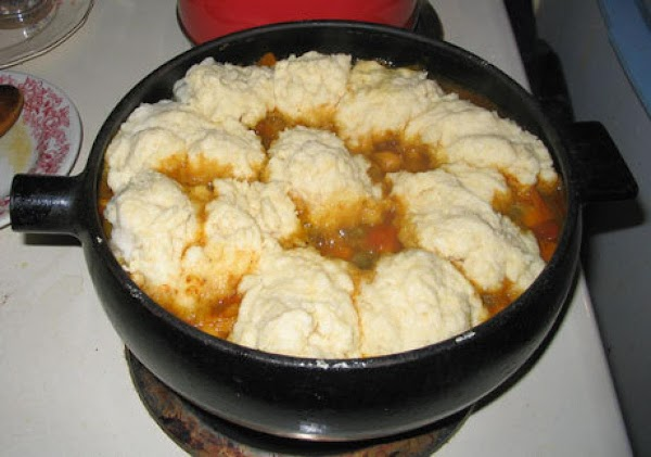 Mum's Stove-top Ground Beef Stew With Dumplings Recipe