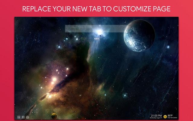 Space Wallpaper HD Custom New Tab