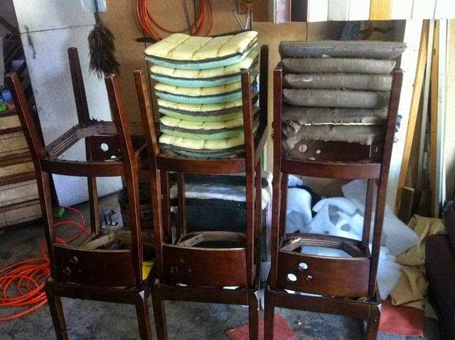餐椅脫皮翻新