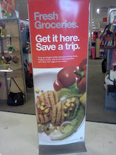 Photo: Fresh groceries sign, that food looks good!