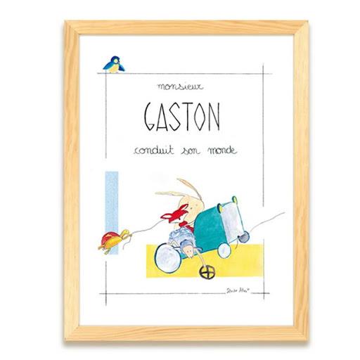 Affiche personnalisée - Illustre Albert - cadeau naissance anniversaire - décoration chambre enfant bébé - illustration - édition d'art