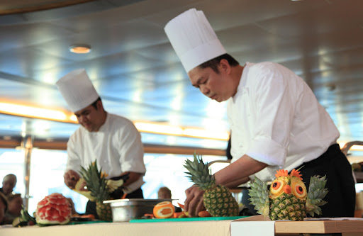 The chefs on board Hurtigruten's expedition ship Fram.
